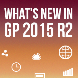 What's new in GP 2015 R2
