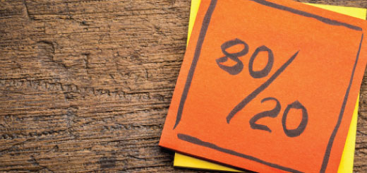The 80/20 rule in Integrated Business Planning!