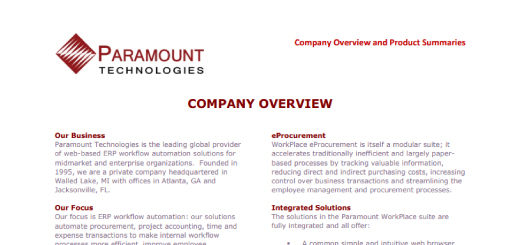 Paramount Technologies Co Overview