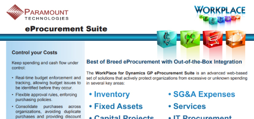 WorkPlace for Dynamics GP eProcurement