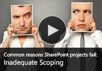 Common reasons SharePoint Projects Fail - Part 1 - Inadequate Scoping